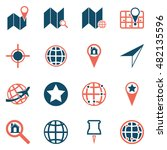map icons. gps and navigation....