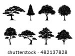 silhouette tree.vector in... | Shutterstock .eps vector #482137828