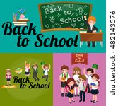 back to school and children... | Shutterstock . vector #482143576