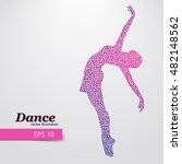 silhouette of a dancing girl of ...   Shutterstock .eps vector #482148562