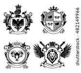 four coat of arms.collection of ... | Shutterstock .eps vector #482149966