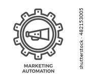 marketing automation thin line... | Shutterstock .eps vector #482153005