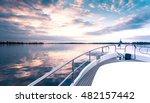yacht deck in sunset | Shutterstock . vector #482157442