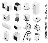 3d isometrics home appliances... | Shutterstock .eps vector #482157976