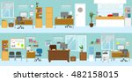 office interiors template with... | Shutterstock .eps vector #482158015