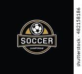 vintage soccer logo   Shutterstock .eps vector #482158186