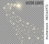 vector golden sparkling falling ... | Shutterstock .eps vector #482161972