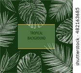 tropical background | Shutterstock .eps vector #482163685