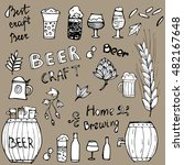 set of hand drawn beer icons... | Shutterstock .eps vector #482167648
