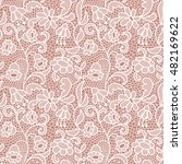 white lace seamless pattern...   Shutterstock .eps vector #482169622