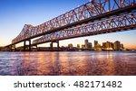 crescent city connection bridge ... | Shutterstock . vector #482171482