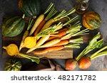 Big Pile Of Autumn Produce Wit...