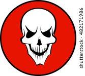 human white skull | Shutterstock .eps vector #482171986