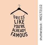 women fashion dress from quote. ... | Shutterstock .eps vector #482172112