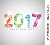 happy new year 2017. colorful... | Shutterstock .eps vector #482173198