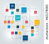flowchart scheme  diagram... | Shutterstock .eps vector #482178082