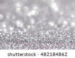 festive abstract glitter bokeh... | Shutterstock . vector #482184862