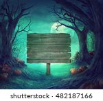 halloween background. spooky... | Shutterstock . vector #482187166