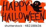 halloween sign with drops... | Shutterstock .eps vector #482188636