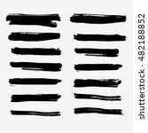 vector set of ink brushes. set... | Shutterstock .eps vector #482188852