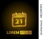 21st calendar 3d golden...