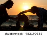 grandmother with her grandson... | Shutterstock . vector #482190856