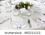 wedding restaurant catering  | Shutterstock . vector #482211112