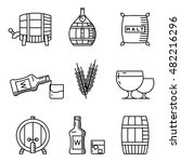 whisky thin line icons. whisky...
