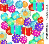 seamless pattern with christmas ... | Shutterstock .eps vector #482218216