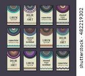 vintage banners cards set.... | Shutterstock .eps vector #482219302