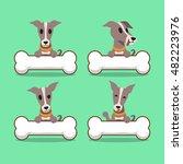 cartoon character greyhound dog ...   Shutterstock .eps vector #482223976