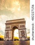 beautiful sunset over arc de... | Shutterstock . vector #482227156