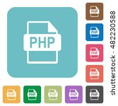 flat php file format icons on... | Shutterstock .eps vector #482230588