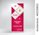 banner roll up design  business ... | Shutterstock .eps vector #482230822
