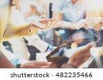 closeup startup diversity... | Shutterstock . vector #482235466