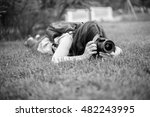 photographer for the photoshoot.... | Shutterstock . vector #482243995