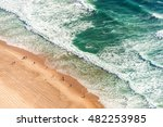 aerial view from above of ocean ... | Shutterstock . vector #482253985