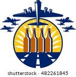 illustration of a b 17 flying...   Shutterstock .eps vector #482261845