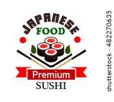 sushi bar and japanese cuisine... | Shutterstock .eps vector #482270635