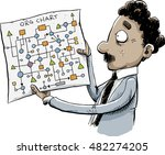 a cartoon office worker man... | Shutterstock .eps vector #482274205