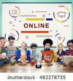 online connection internet... | Shutterstock . vector #482278735