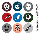 zombie vector icon theme set... | Shutterstock .eps vector #482279602