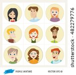set of people avatar icons | Shutterstock .eps vector #482279776