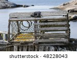 Lobster Trap With Peggys Cove...