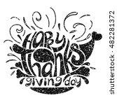 vector hand drawn lettering... | Shutterstock .eps vector #482281372