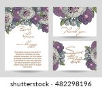 romantic invitation. wedding ... | Shutterstock .eps vector #482298196