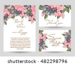 invitation with floral... | Shutterstock .eps vector #482298796