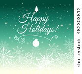 e card for happy new year and... | Shutterstock .eps vector #482303812