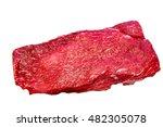 The Flat Iron Steak Lies On A...