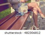 beautiful woman legs ... | Shutterstock . vector #482306812